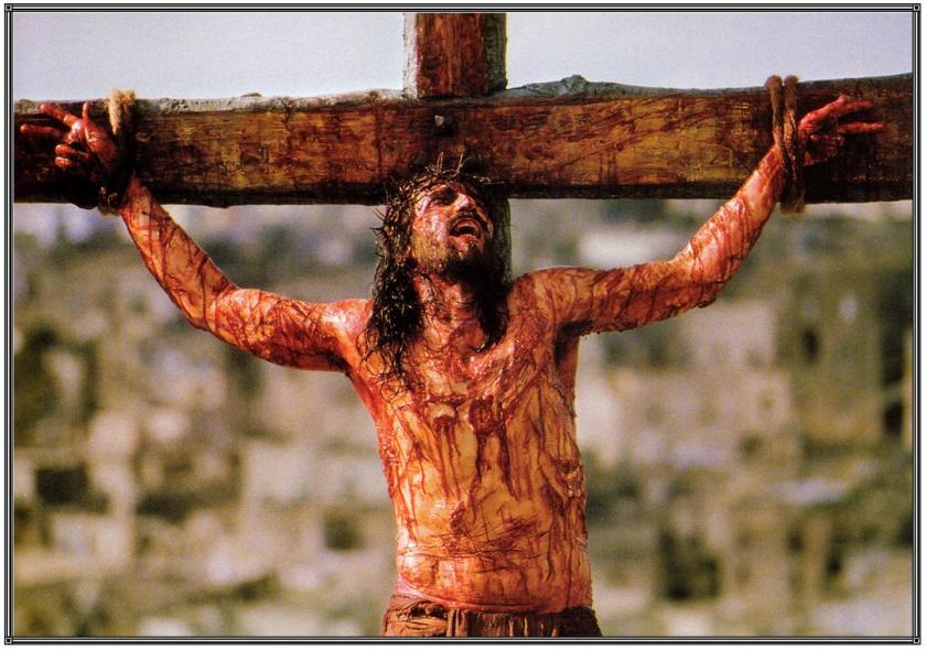Passion of the Christ Jesus crucified on the Cross