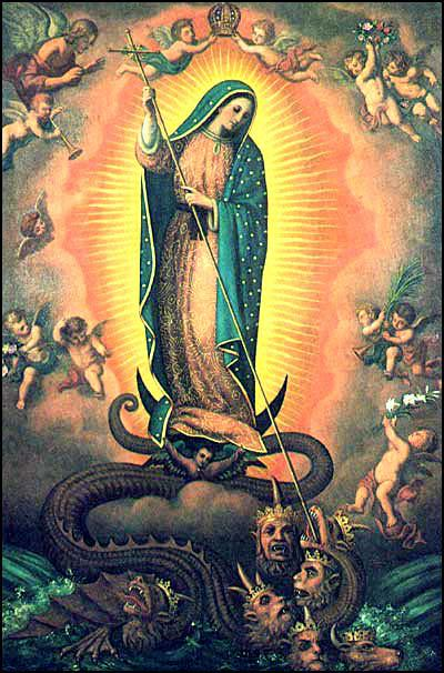 Our Lady of Guadalupe Crushing the Serpent